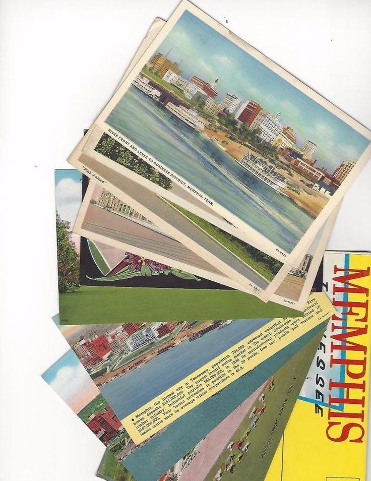 Memphis Tennessee Lot of 10 Antique Postcards + 1 Chrome Souvenir Folder (Lot 2)