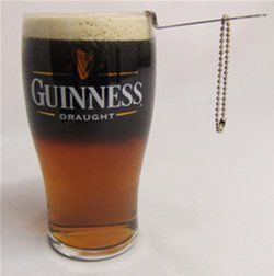 The classic Black & Tan recipe: (Guinness either mixed with or floating atop Bass, Smithwick's or some other English style Mild Ale).
