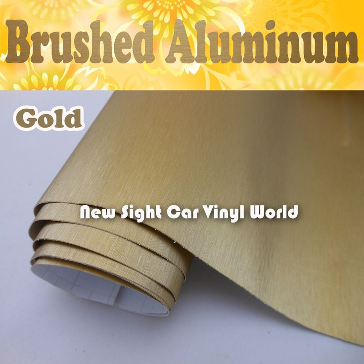 Like and Share if you want this  High Quality Gold Brushed Aluminum Wrap Vinyl For Car Decals With Air Bubble Free Size: 1.52*30M/Roll     Tag a friend who would love this!     FREE Shipping Worldwide     Get it here ---> http://webdesgincompany.com/products/high-quality-gold-brushed-aluminum-wrap-vinyl-for-car-decals-with-air-bubble-free-size-1-5230mroll/