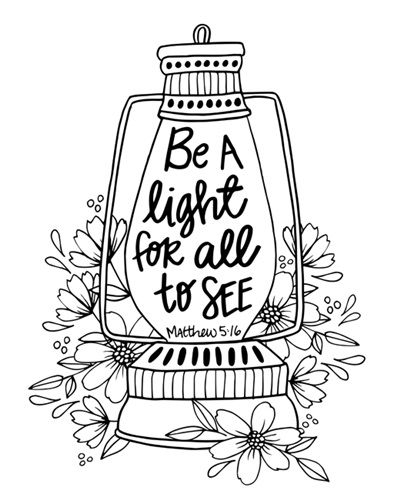Be A Light - Matthew 5 16 | Coloring Canvas - Canvas On Demand