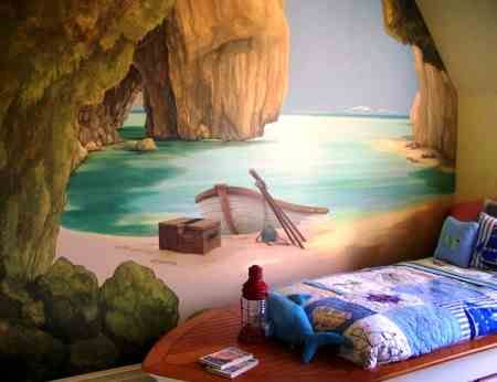 Farebné dekorácie na stenu, nápady