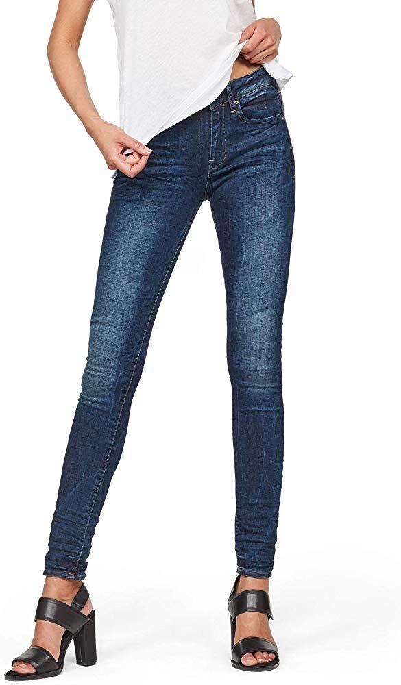 G Star Raw Damen Midge Zip Mid Waist Skinny Color Jeans Damen Frau Fashions Trends Geschenkideen Kleider Damen Mode Damenmode Damen