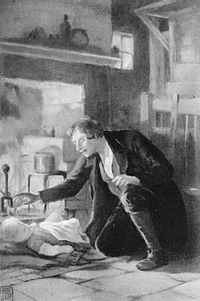 Silas Marner : The novel is set in the early years of the 19th century. Silas Marner, a weaver, is a member of a small Calvinist congregation in Lantern Yard, a slum street in an unnamed city in Northern England. He is falsely accused of stealing the congregation's funds while watching over the very ill deacon of the group.