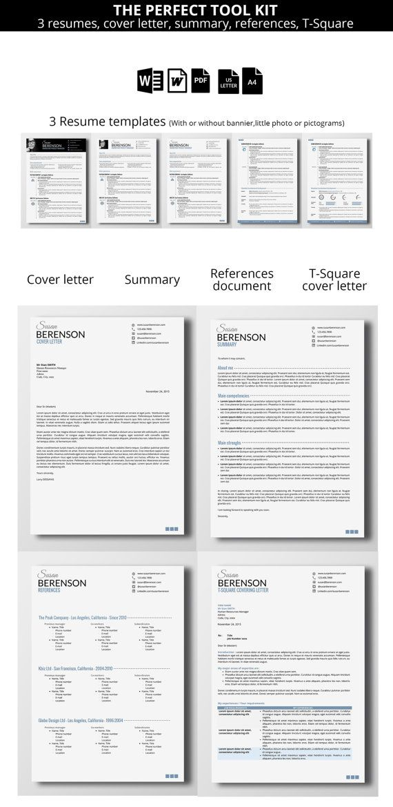 Because you are worth a smart resume / CV Take your resume to a whole new  level customizing this elegant and professional template pages -