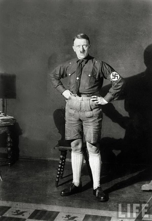 Hitler (I don't know why, but this makes me laugh...)Short Shorts, Hitler History, Casual, Nice Shorts, Knee Socks, Adolf Hitler, Knee Highs, Shorts Pants, Knee High Socks