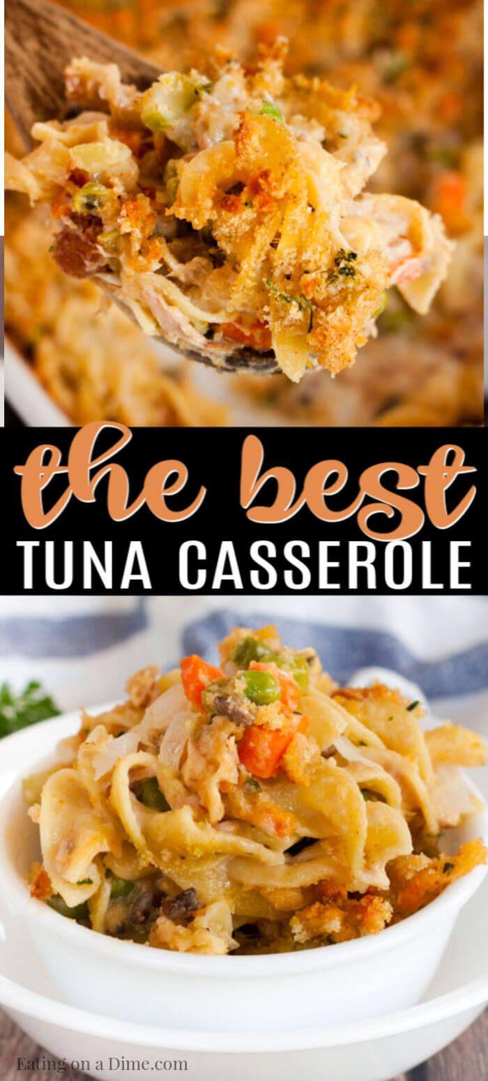 Easy Tuna Casserole Recipe Ready In Under 30 Minutes Recipe Tuna Casserole Recipes Best Tuna Casserole Tuna Casserole