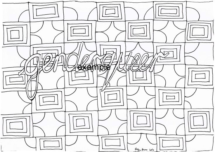 Genderqueer, LGBTIAPQ, Adult Colouring in by ArachneArt on Etsy