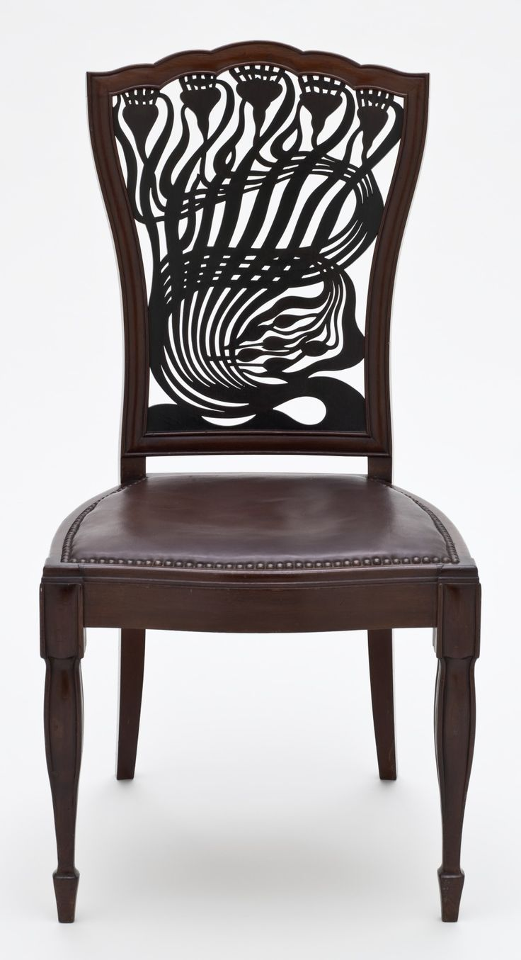 Arts and crafts movement design - Mahogany Chair Circa 1883 Designed By Arthur Heygate Mackmurdo 1851 1942