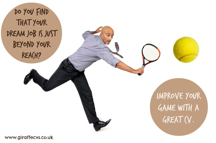 Is your dream job just beyond your reach?  Improve your game with a great #CV #Wimbledon2014