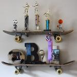 Skateboard Themed Shelving My nephews have these, they are awesome.