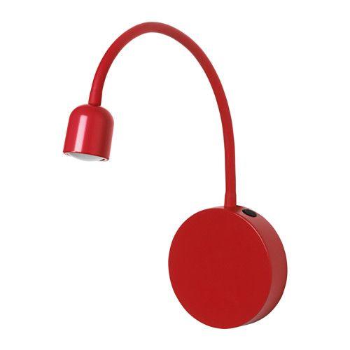 BLÅVIK LED wall lamp - battery operated red - IKEA Reno - Jesse\u0027s
