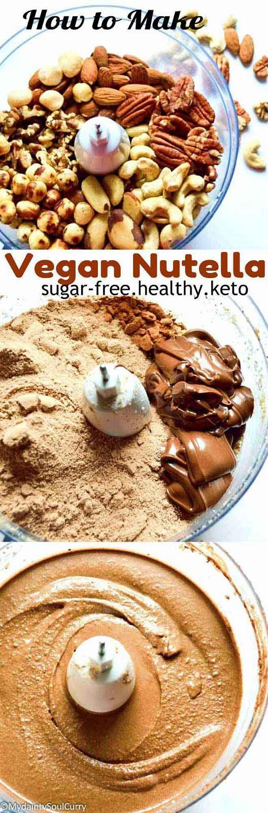 mixed nuts sugar-free nutella #vegan #healthy