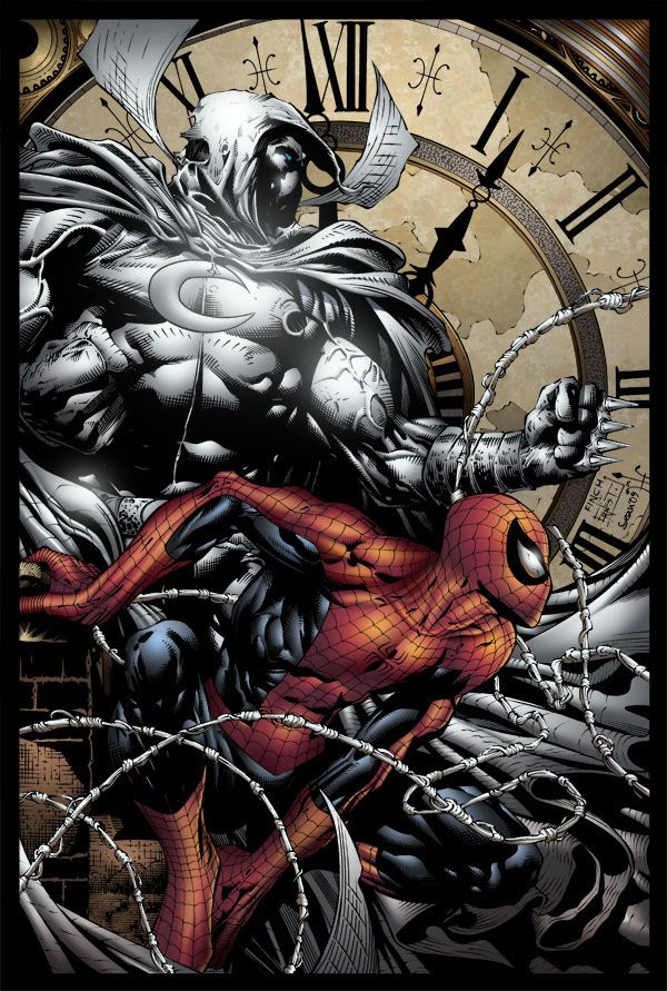 Moon Knight and Spider-Man - by David Finch