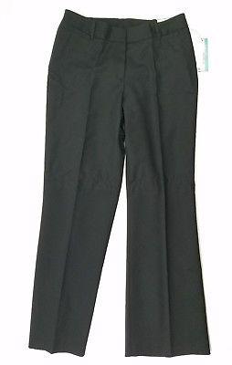Worthington Womens Pants Curvy Fit Dress Slacks Stretchy Career Trouser Black 6