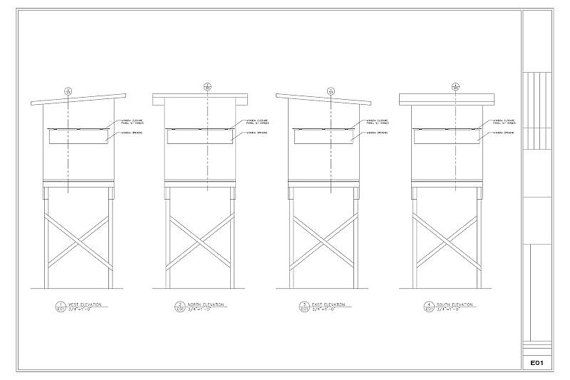 6 X6 Elevated Deer Stand Blind Plans By Cmbleisuredesigns
