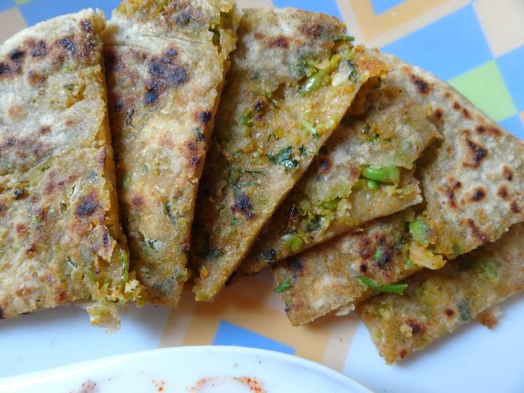 Mixed Vegetable Bread(Paratha) atThree Peppercorn.