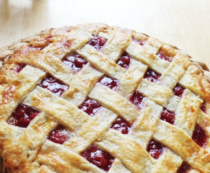 This is almost exactly my scratch cherry pie recipe. Earth balance makes an awesome crust.