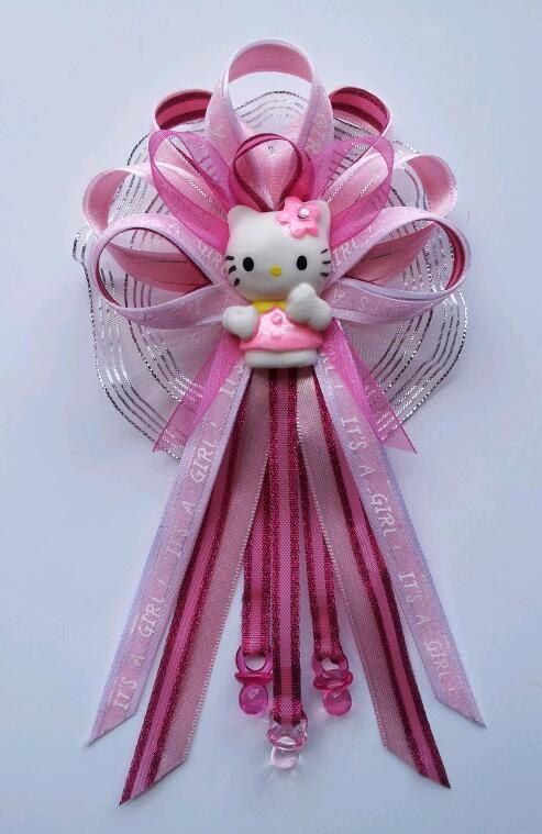 Pink Itu0027s A Girl Hello Kitty Baby Shower Mommy Corsage