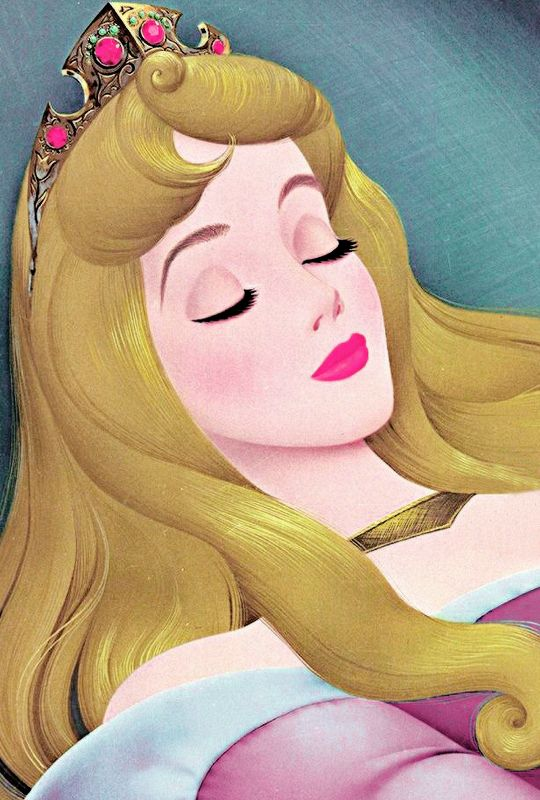"vintagegal: "" ""She is indeed, most wondrous fair. Gold of sunshine in her hair, lips that shame the red red rose. In ageless sleep, she finds repose.""  Sleeping Beauty (1959) """
