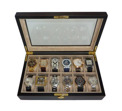 I do love boxes! Great to store my watch collection Good gift for men.  Watch Display Case and Storage Organizer Box