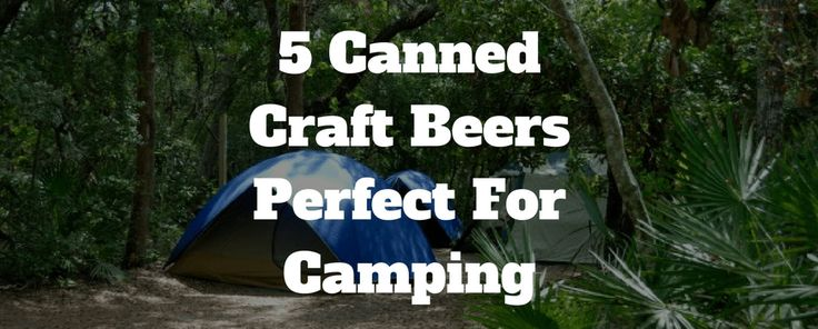 Canned Craft Beers Perfect For Camping