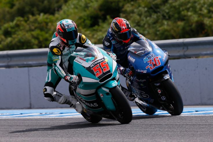 55 Hafizh Syahrin, Petronas Raceline Malaysia - Moto2, Jerez 2015 | MotoGP | Moto2 | Moto3 ...
