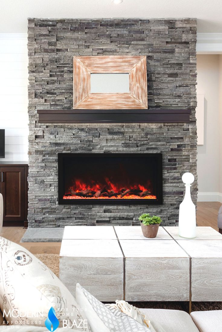 Stone wall with fireplace and Living room decor stone design