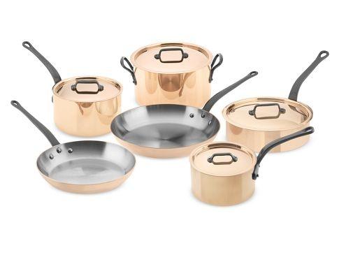 mauviel m250 copper 10 piece cookware set. Black Bedroom Furniture Sets. Home Design Ideas