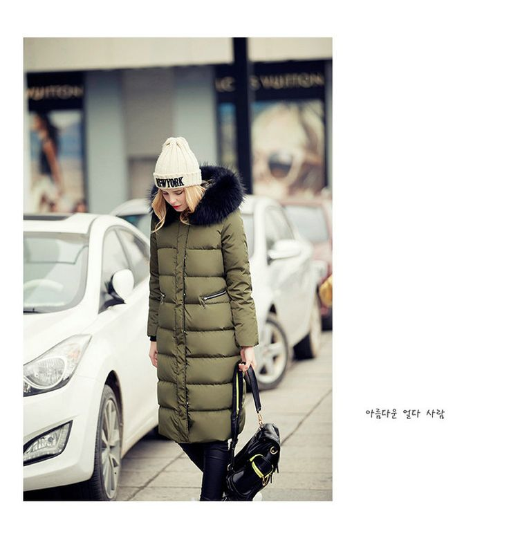 2016 New Fashion winter Jacket women Solid Color Real Long straight female with hood Fur collar Down Coat outerwear parka anorak-in Down & Parkas from Women's Clothing & Accessories on Aliexpress.com | Alibaba Group
