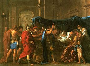 «Смерть Германика», Н. Пуссен, 1627, м/х, 148×198, Художествен-ный институт, Миннеаполис