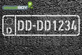 http://www.stencilboy.de/bodenmarkierung-schablonen/schablonen-ohne-rahmen/194/ihr-autokennzeichen-als-schablone