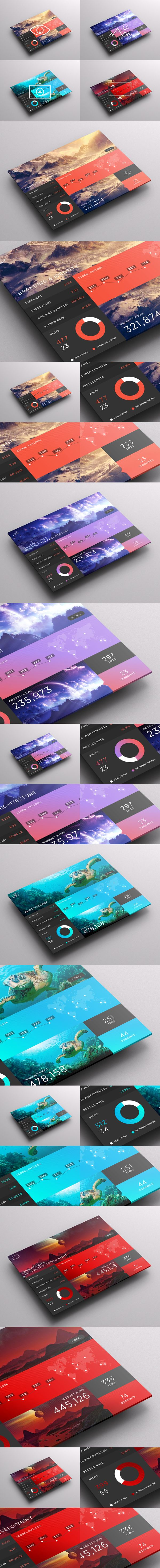 SJQHUB // Visual Data UI dashboard. Also, wouldnt it be nice a tablet with a real full size screen? more on http://html5themes.org