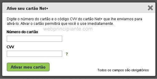 Cartão Pré-pago neteller Net+ Prepaid MasterCard-Web Principiante