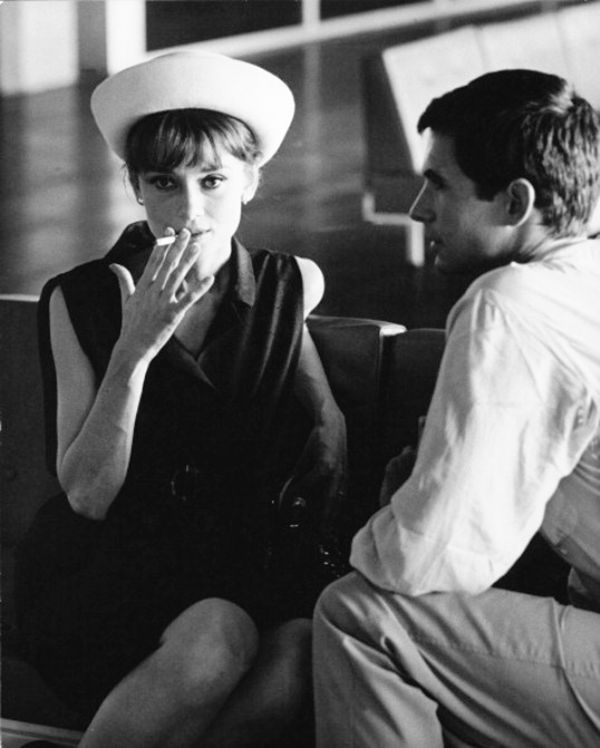 Audrey Hepburn and Anthony Perkins photographed by Pierluigi Praturlon at the Orly Airport in Paris, France, July 28, 1962.