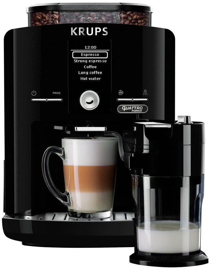 Krups EA82F8 Quattro Force  Krups EA82F8 Quattro Force: Voor het perfecte kopje koffie Met de Krups EA82F8 Quattro Force maak je iedere keer weer het perfecte kopje koffie. Deze volautomatische espressomachine zorgt voor een mogelijkheid aan koffiespecialiteiten. Niet alleen een heerlijke espresso is in een mum van tijd gezet ook maak je in een handomdraai een perfecte cappuccino met behulp van het One-Touch-Cappuccino systeem. De Krups EA82F8 Quattro Force werkt volgens 4 stappen om het…