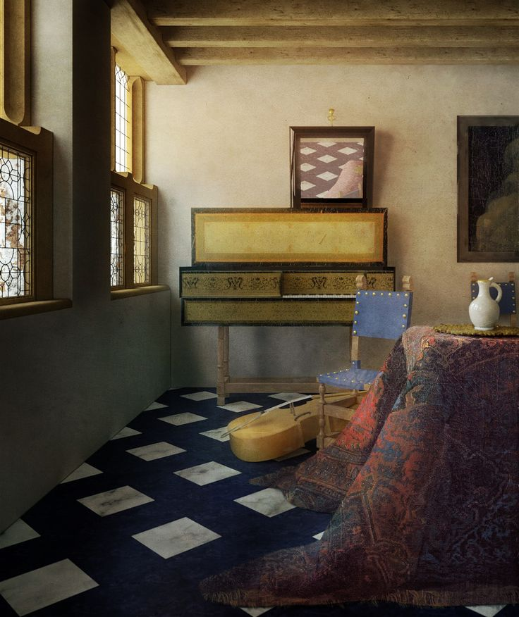 VML - filippofanciotti.com The Vermeer's Music Lesson reconstruction (no Lady at the Virginals , no Gentleman) FF september 2016 modeled with Rhino, rendered with V-ray for Rhino, post-production in Photoshop 1230 x 1465 pixels LAPIS