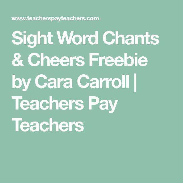 Sight Word Chants & Cheers Freebie by Cara Carroll | Teachers Pay Teachers