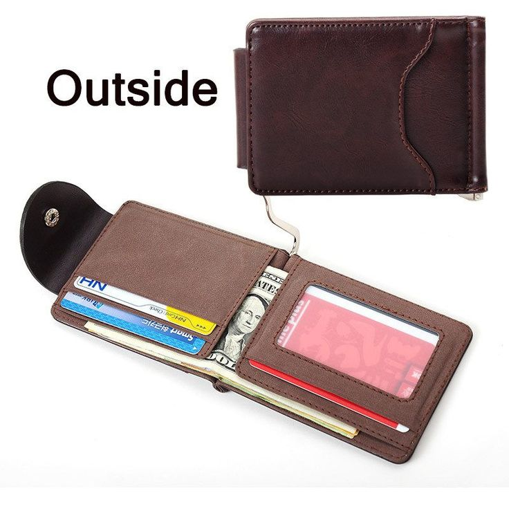 Brown Grey Color Money Clips; High Quality Men Wallet; Hasp Mini Vintage Purse; Perfect Gift for Him;