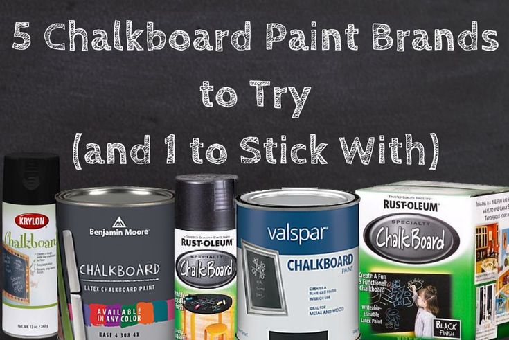 5 Chalkboard Brands to Try (and 1 to Stick With) | Hometalk Rust-oleum flat black chalkboard paint got the best reviews