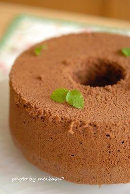 チョコミントシフォンのレシピ | キッチン | パンとお菓子のレシピポータル