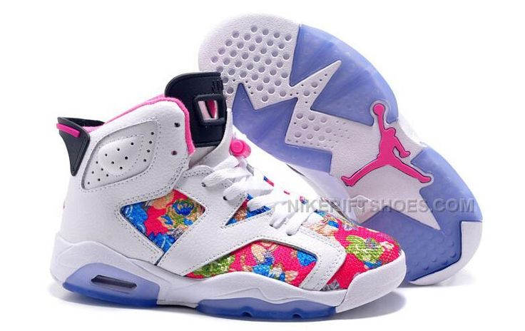 http://www.nikeriftshoes.com/2015-spring-latest-nike-air-jordan-6-flower-womens-shoes-white-pink-blue-sneakers-outlet.html 2015 SPRING LATEST NIKE AIR JORDAN 6 FLOWER WOMENS SHOES WHITE PINK BLUE SNEAKERS OUTLET Only $99.00 , Free Shipping!