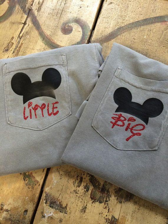 Disney Mickey Mouse Inspired Sorority Big Little Comfort Colors Pocket Tees