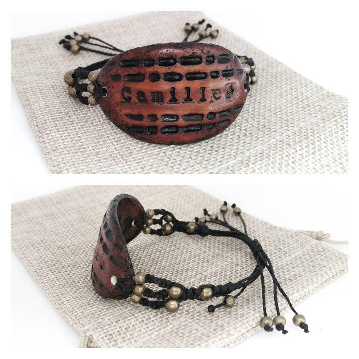 """Polubienia: 22, komentarze: 1 – Medley ArtCo (@medleyartco) na Instagramie: """"#bracelet #personalized #macrame #macramebracelet #Camille #polymerclay  #polymerclayjewelry…"""""""