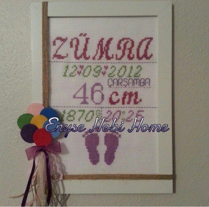 EnyseHobiHome Facebook - instagram Etamin doğum panosu