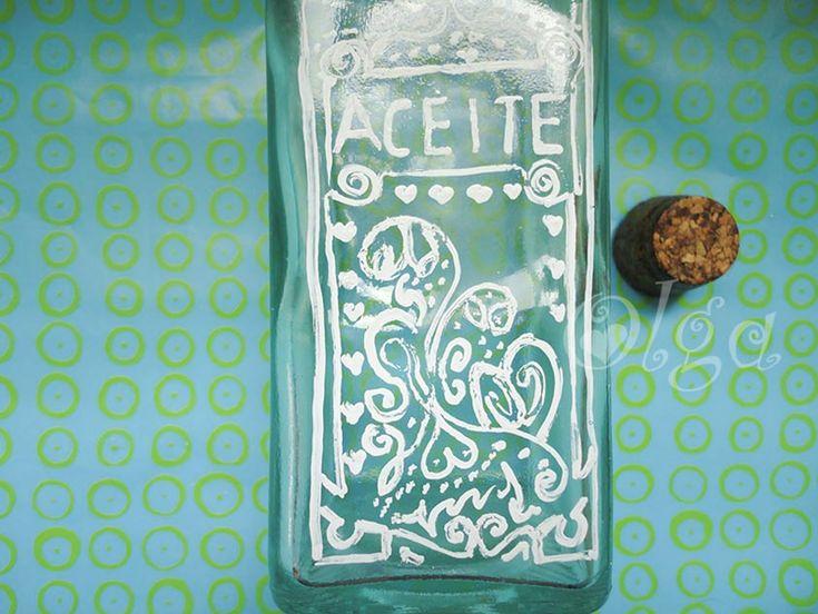 como decorar botellas de cristal con letras y to decorate crystal bottle whith