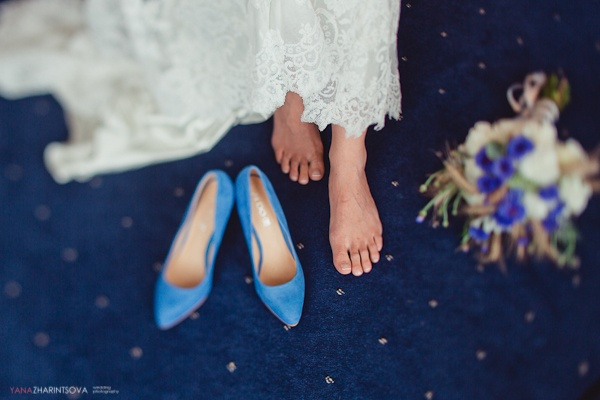 синие свадебные туфли #wedding #blue #shoes