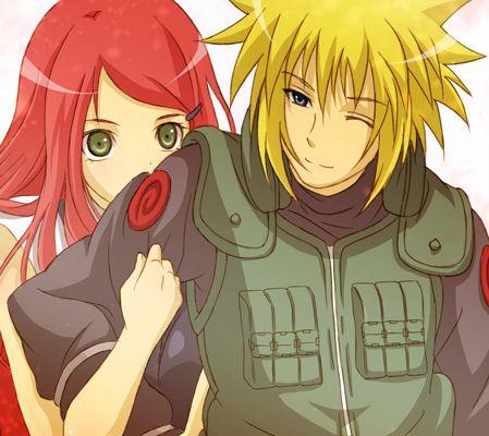 Minato & Kushina ..how sweet this couple!