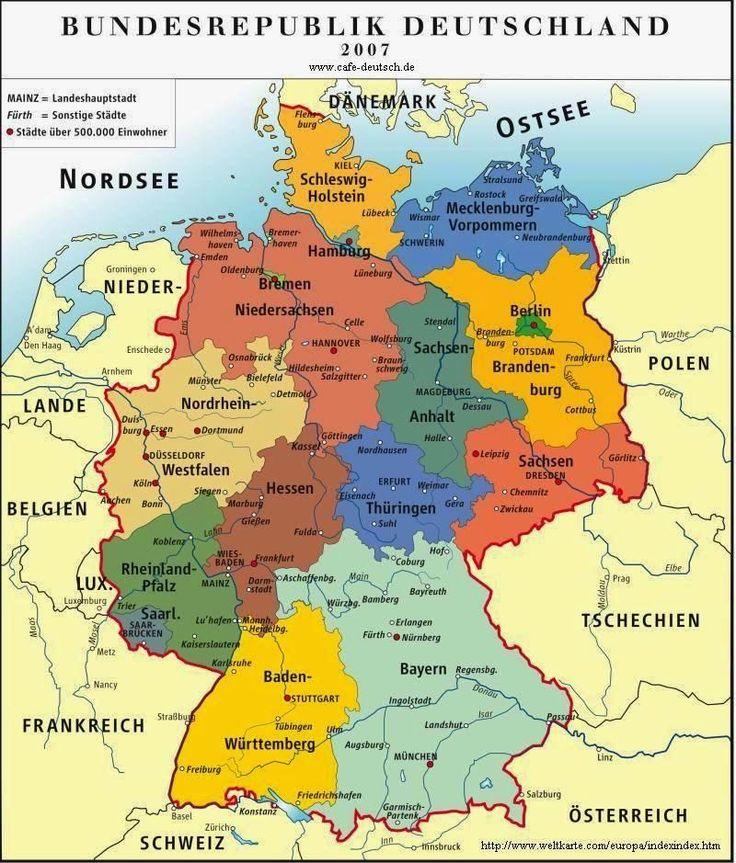 Deutsch mit Frau Virginia D'Alò: Deutschland - Schweiz - Österreich: Landkarten (Übung)