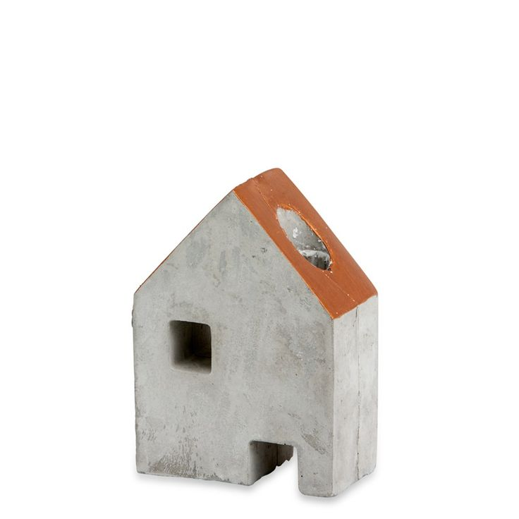 Copper & Concrete House Candle Holder Small - Me and My Trend