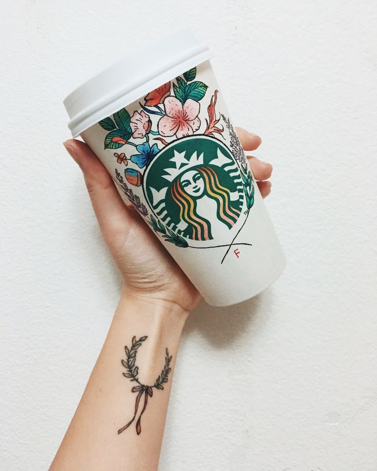 Dessin de la coupe Starbucks. Custom starbucks cup
